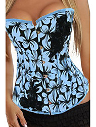 Satin Front Busk Closure Corset Shapewear With T-back Sexy Lingerie Shaper