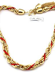 Elegant-Craft Graceful-Metall-und Seil-Woven-Halskette