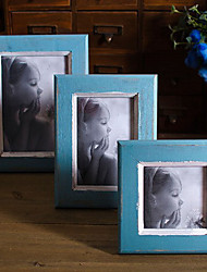 Blue Antique Finish Wooden Photo Frame (More Size)
