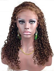 """Full Lace 18 """"Curly indiano de 100% Remy cabelo humano Lace Wig-5 cores para escolher"""