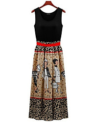 MFL New Printing Waist Dress