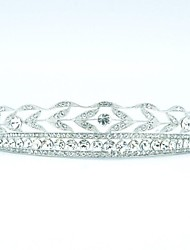 Classics Limpar Áustria strass noivas casamento floral Tiara Headband