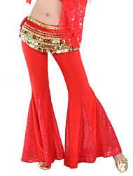 Belly Dance Bottoms Women's Training Polyester / Sequined Sequins 1 Piece Pants 96cm