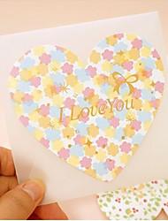 Ti amo Fiore Cuore Greeting Card - Set di 12