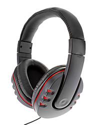Lujoso Grandes auriculares para PS4 (Negro + Rojo)