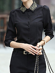Colorparty Le New Professional Women Chiffon Shirt (noir)