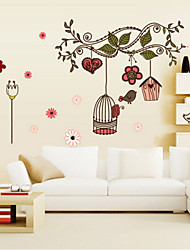 Amovible Direction Bird Cage Accueil Art Decor Stickers muraux