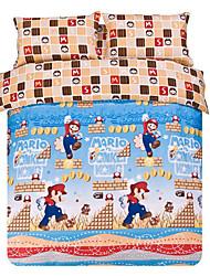 Shero 4-Stück-Twill Cartoon-Muster Baumwolle Quilt Set (Application von 1,5 m Bett 200 * 230cm)