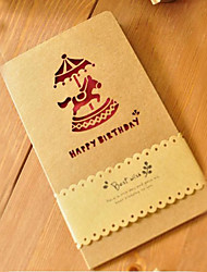 Merry-go-round Cut-out Birthday Card