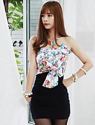 Strapless Bow Vestido ajustado de la Mujer