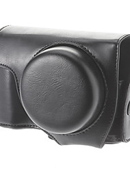 Faux Leather Protective Camera Bag for Nikon P7700 (Black)