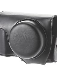 La cámara de protección de cuero de imitación bolsa para Nikon P7700 (Negro)