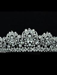 Excelente 4,5 centímetros Áustria strass noivas Casamento Flores Tiara Headband