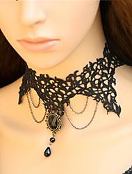Handmade Black Lace Gothic Lolita Colar