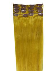 20inch 7pcs/set Indian Clip In Hair 75g Hair Salon Quality