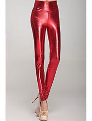 Red Metallic vita alta Leggings