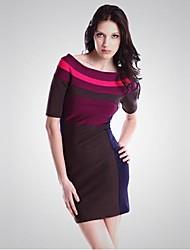 Women's Sexy / Bodycon Dress Knee-length / Maxi Rayon / Spandex