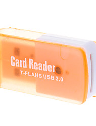 2.0 Micro SD Memory Card Reader T-Flash USB (laranja)