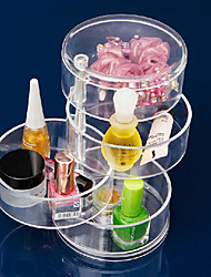 Acrylic Transparent 4 Layer Rotatable Cylinder Shaped Cosmetics Storage Box Cosmetic Organizer