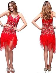 Circuler dentelle rouge robe de cocktail