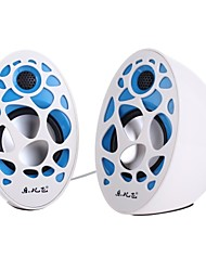 Music-F High Quality Stereo USB 2.0Multimedia Speaker M-25(White+Blue)