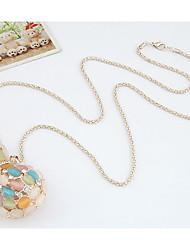 Женская корейской моды Gemmy кальян-образный ожерелье
