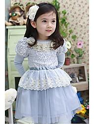Princesa Volantes De encaje de malla vestido de la muchacha