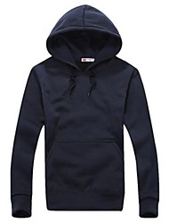 Men's Long Sleeve Hoodie & Sweatshirt , Cotton/Polyester Pure