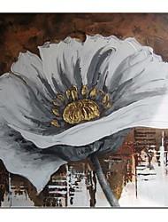 Peint à la main Peinture à l'huile moderne décoration florale avec cadre étiré prêt à accrocher