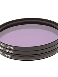 CPL + UV + FLD Filter Set for Camera with Filter Bag (72mm)