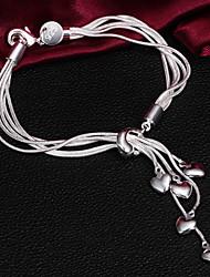 Haute Qualité Original Silver argenté avec des bracelets de charme de coeur minuscule
