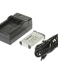 ismartdigi 1950mAh Camera Battery+Car Charger for CASIO EX-H10 H15 H20G