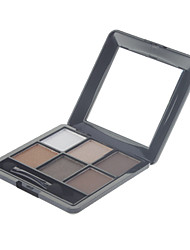 6 Eyeshadow Palette Shimmer / Mineral Eyeshadow palette Powder Normal Daily Makeup / Smokey Makeup