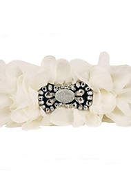Women's Flower Wide Belt