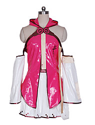 Vocaloid Hatsune Miku Fuschia & White Cosplay Costume