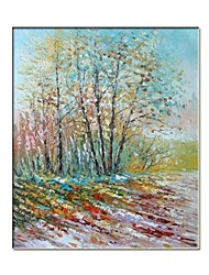 Hand Painted Impression Landscape Oil Painting with Stretched Frame Ready to Hang