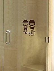 People Bathroom Series Paste Wall Stickers