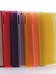 Cas transparent mat dure de PC pour iPad Air (couleurs assorties)