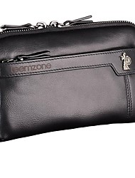 Mens Fashion Style Genuine Leather Bussiness Event Party Handbags Totes