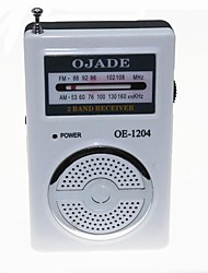 OJADE OE-1205 Radio AM / FM Receiver - Blanc