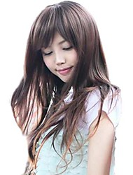 Lady Fashion Synthetic Long Student Curly Wigs Full Bang Wigs 3 Colors Available