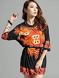 Die neue Frühlings-und Sommer-Retro-Muster Ethnische Sleeve Kleid (Schneiderei Random)