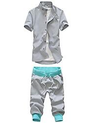 Men's Short Sleeve Set , Cotton