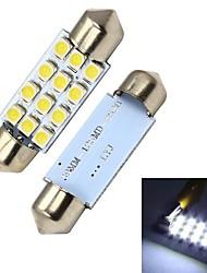 Merdia 39MM 60LM 1,8 Вт 12x3528SMD светодиодных Белый Освещение номерного знака / Инструмент лампа (2 PCS/12V)