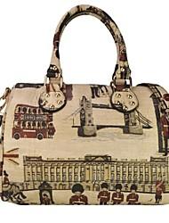 Vintage Print Abbigliamento donna Borse Cuoio