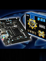 MSI B85I Intel B85 LGA 1150 PCI-E 3.0 SATA III USB3.0 Mini-ITX HDMI DVI madre de Escritorio