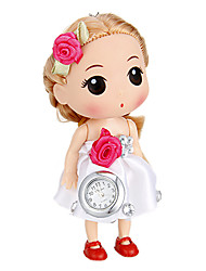 Women's Doll Shape Keychain Watch (White)