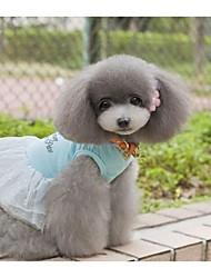 Robe d'été pour animaux de mariage de Rose pour Animaux Chiens (Assortiment de couleurs, tailles)