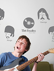 People Musicians Decorative Wall Stickers