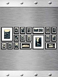 Black Color Photo Wall Frame Collection Set of 18